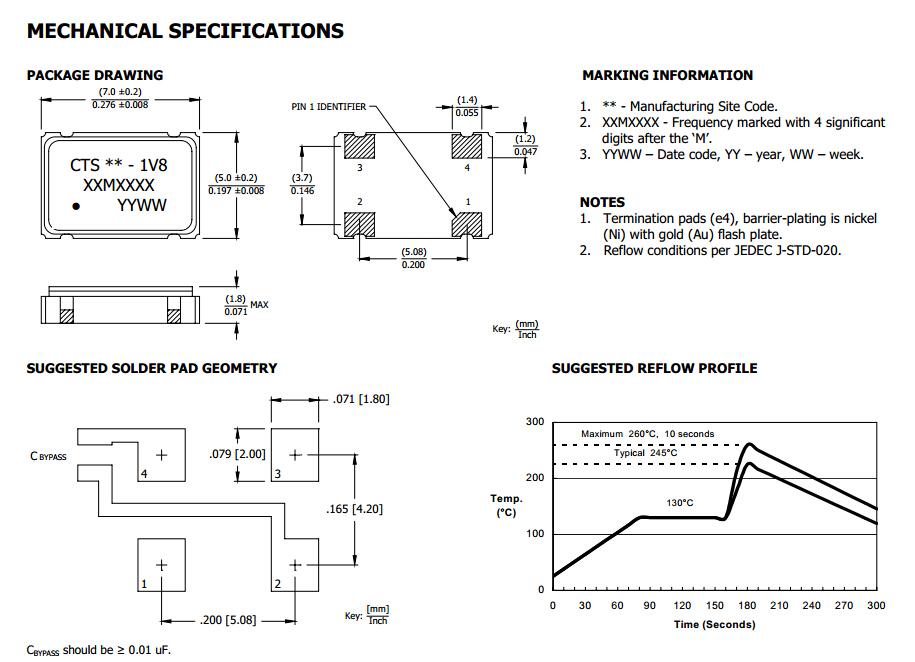 cb1v85*7石英晶体振荡器