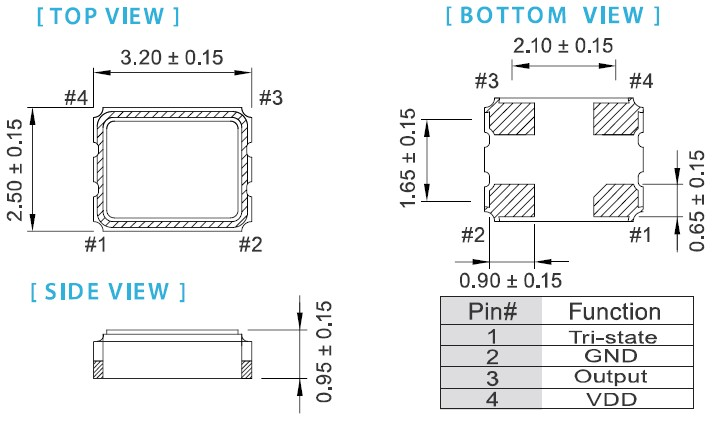 台湾进口晶振代理,ox石英晶体振荡器,3225mm贴片晶振