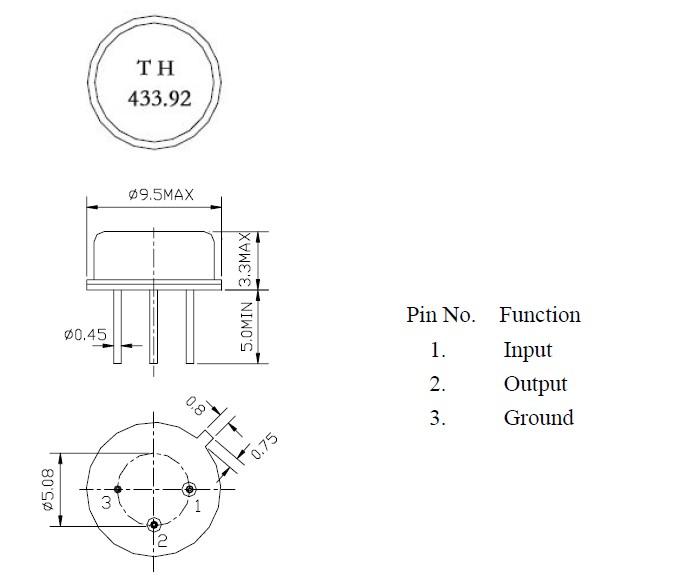 r315m to-39声表面谐振器,滤波器